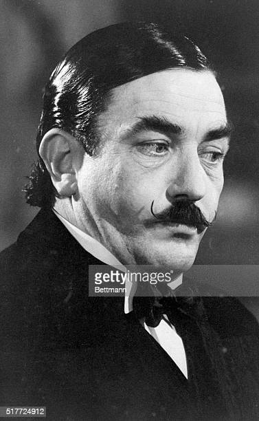 Albert Finney plays Agatha Christie's detective Hercule Poirot in the film verson of Murder on the Orient Express