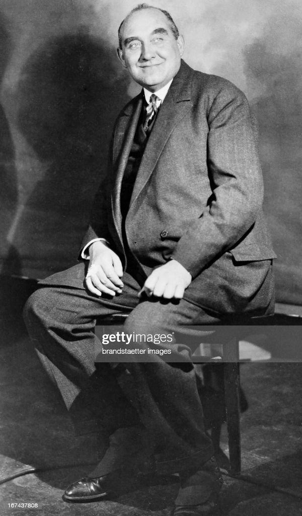 Albert Grzesinski (1879-1947). Prussian Interior Minister from 1926-1930 and from 1930-1932 Berlin Police President. About 1930. Photograph. (Photo by Imagno/Getty Images) Albert Grzesinski (18791947). Von 19261930 preußischer Innenminister und von 19301932 Berliner Polizeipräsident. Um 1930. Photographie.