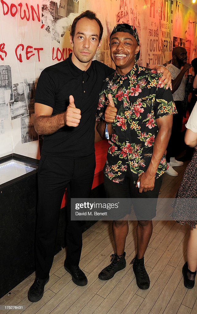 Albert Hammond Jr (L) and Benjamin Boateng attend Converse At The Circle, celebrating the Chuck Taylor All Star 'Rock Craftsmanship' collection, on August 1, 2013 in London, United Kingdom.