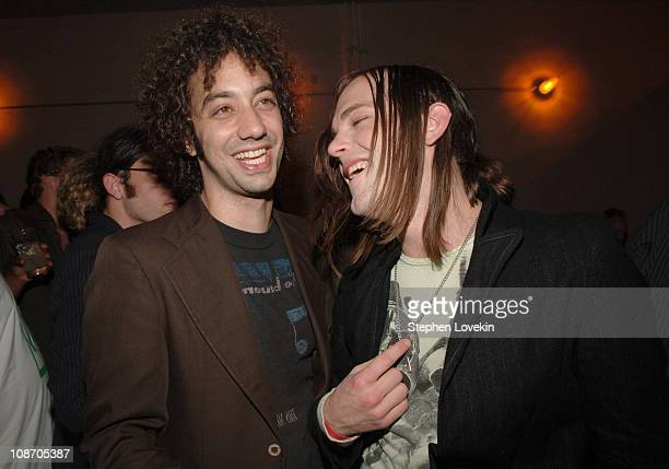 Albert Hammond Jr of The Strokes with Caleb Followill of The Kings of Leon