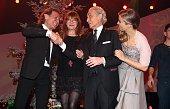 Albert Hammond Katja Ebstein Jose Carreras Nina Eichinger during the 20th Annual Jose Carreras Gala on December 18 2014 in Rust Germany