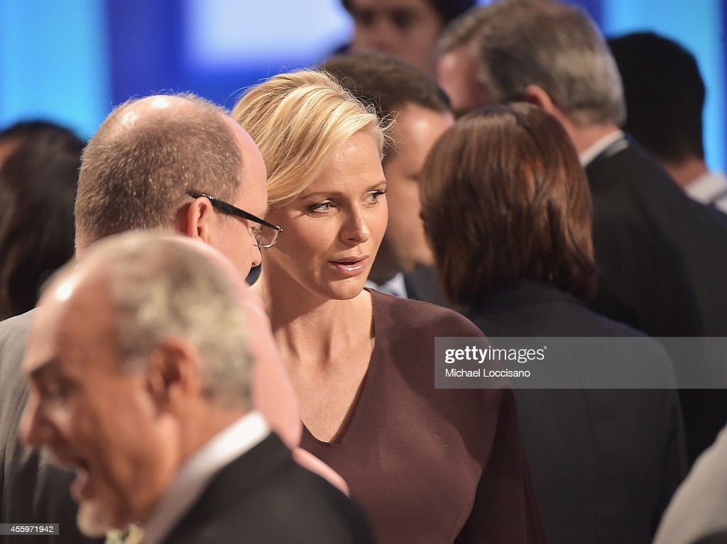 Albert II, Prince Of Monaco, and Charlene, Princess Of Monaco attend 10th Annual Meeting of the Clinton Global Initiative at The at Sheraton New York Hotel & Towers on September 22, 2014 in New York City.