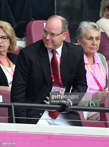 Albert II Prince of Monaco attends day two of the IAAF World Athletics Championships at the London Stadium on August 5 2017 in London United Kingdom