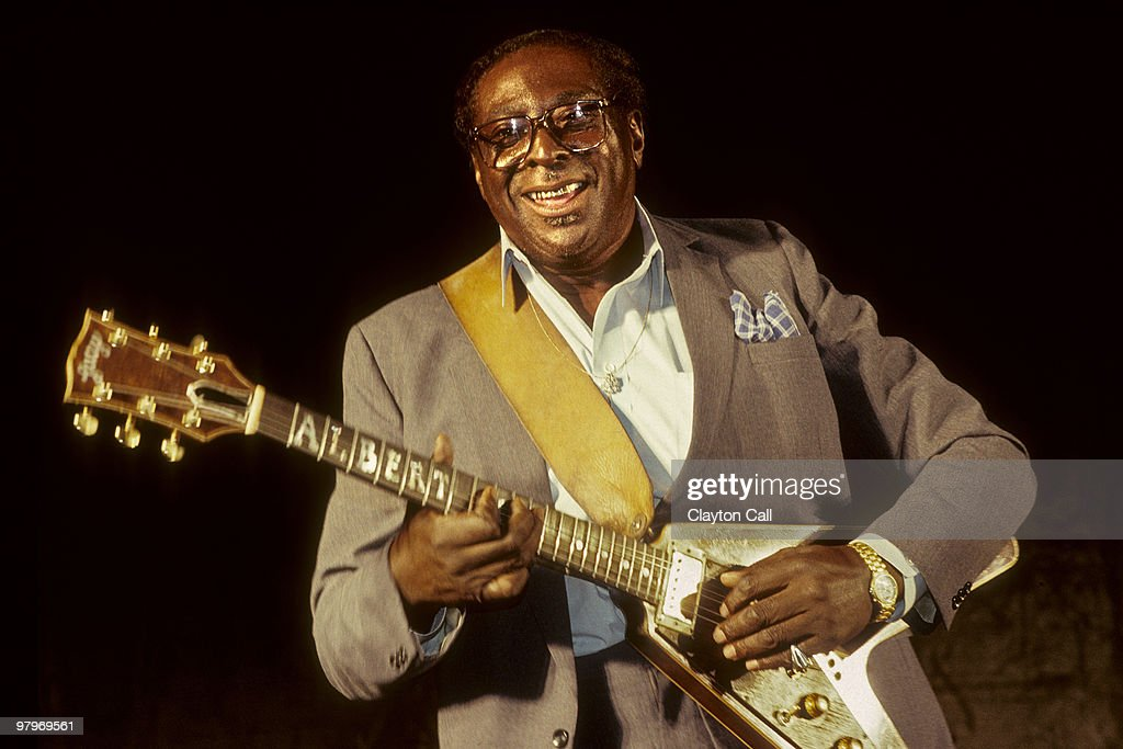 Albert King performing at the Oakland Arts Exposion in Estuary Park on September 07 1990