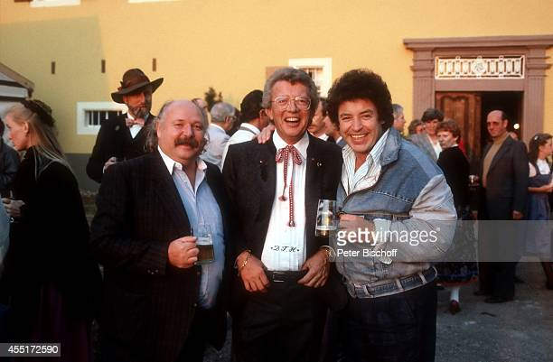 Albert Krogmann Dieter Thomas Heck Tony Marshall Schlossfest 1986 am im Schloß Aubach bei BadenBaden Deutschland