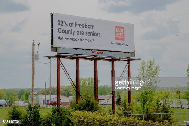 Albert Lea Minnesota Billboard on ageing seniors A campaign to create awareness of Minnesota's growing aging population