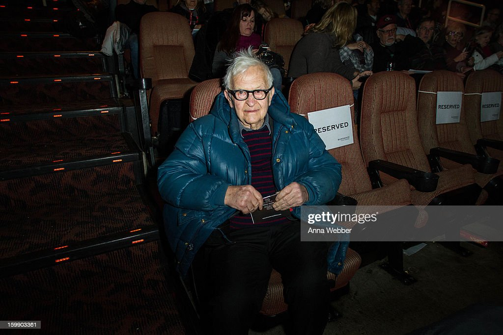 <a gi-track='captionPersonalityLinkClicked' href=/galleries/search?phrase=Albert+Maysles&family=editorial&specificpeople=683587 ng-click='$event.stopPropagation()'>Albert Maysles</a> attends GE/Focus Forward Special Screening - 2013 Park City on January 22, 2013 in Park City, Utah.