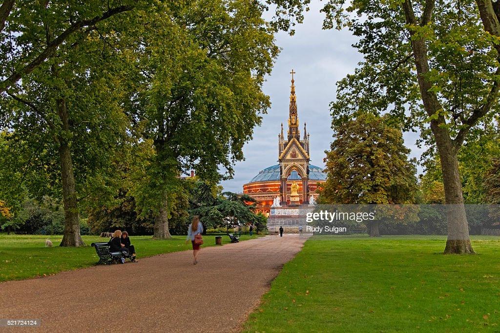 Albert Memorial in Hyde Park : Stock Photo
