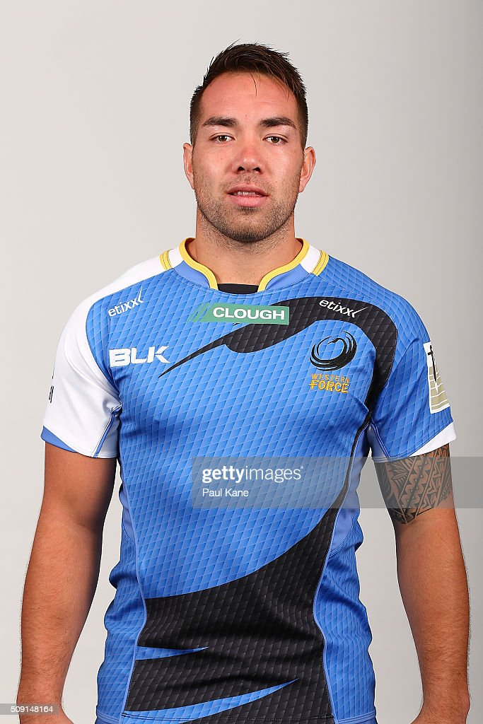 Albert Nikoro poses during the Western Force 2016 Super Rugby headshots session on February 9, 2016 in Perth, Australia.