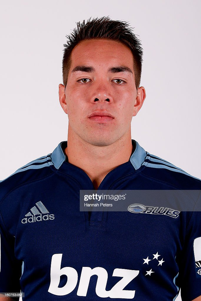 Albert Nikoro poses for a portrait during the 2013 Blues headshots session on February 5, 2013 in Auckland, New Zealand.