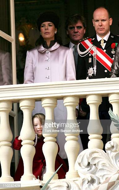 HSH Albert of Monaco HSH Caroline of Hanover with her husband HSH Ernst August of Hanover and their daughter Alexandra