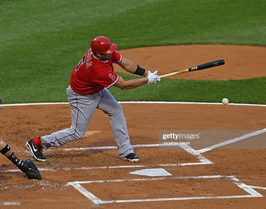 <a gi-track='captionPersonalityLinkClicked' href=/galleries/search?phrase=Albert+Pujols&family=editorial&specificpeople=171151 ng-click='$event.stopPropagation()'>Albert Pujols</a> #5 of the Chicago White Sox bats against the Los Angeles Angels of Anaheim at U.S. Cellular Field on July 2, 2014 in Chicago, Illinois. The White Sox defeated the Angels 3-2.