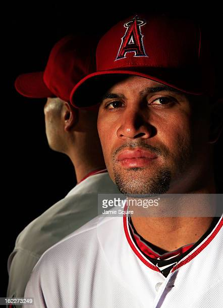 Albert Pujols poses during the Los Angeles Angels of Anaheim Photo Day on February 21 2013 in Tempe Arizona