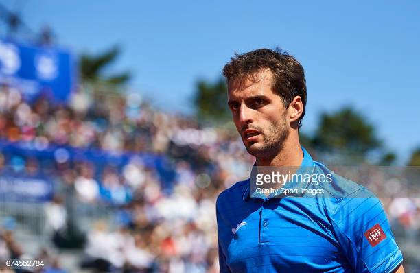 Albert Ramos Vinolas of Spain looks on at his match against Andy Murray of Great Britain during the Day 5 of the Barcelona Open Banc Sabadell at the...