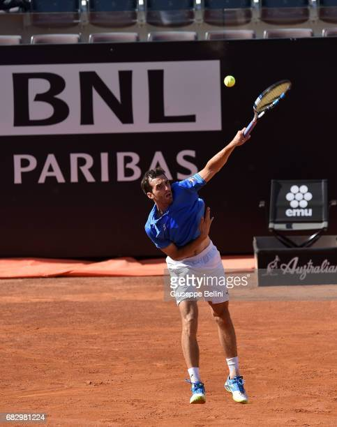 Albert RamosVinolas of in action during the match between John Isner of USA and Albert RamosVinolas of during The Internazionali BNL d'Italia 2017...