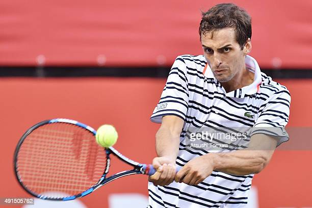 Albert RamosVinolas of Spain competes against Nick Kyrgios of Australia during the men's singles first round match on day two of Rakuten Open 2015 at...