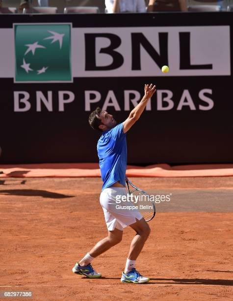 Albert RamosVinolas of Spain in action during the match between John Isner of USA and Albert RamosVinolas of Spain during The Internazionali BNL...