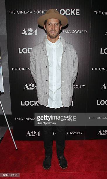 Albert Reed attends the A24 and The Cinema Society premiere of 'Locke' at The Paley Center for Media on April 22 2014 in New York City