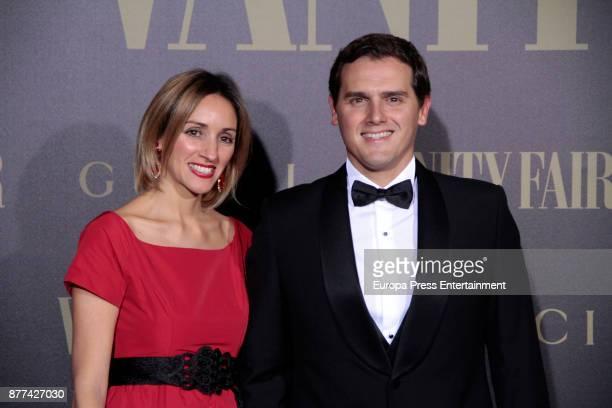 Albert Rivera and Beatriz Tajuelo attend the gala 'Vanity Fair Personality of the Year' to Garbine Muguruza at Ritz Hotel on November 21 2017 in...