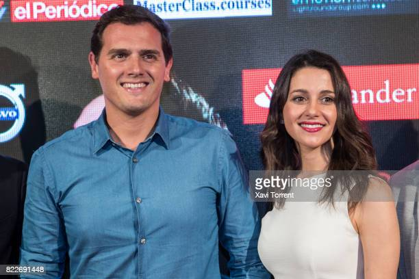 Albert Rivera and Ines Arrimadas attend the photocall of the 'Miguel Poveda Amigos' Gala at Gran Teatre del Liceu on July 25 2017 in Barcelona Spain