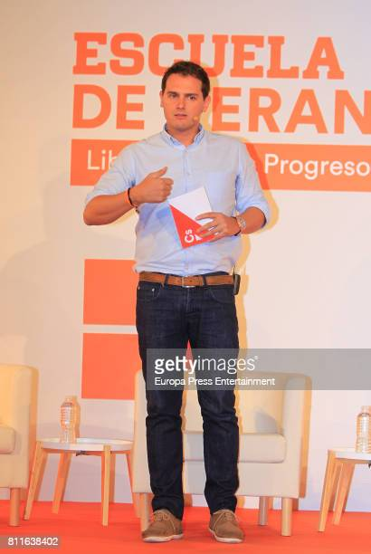 Albert Rivera attends the opening of Ciudadanos Party summer courses on July 7 2017 in Madrid Spain