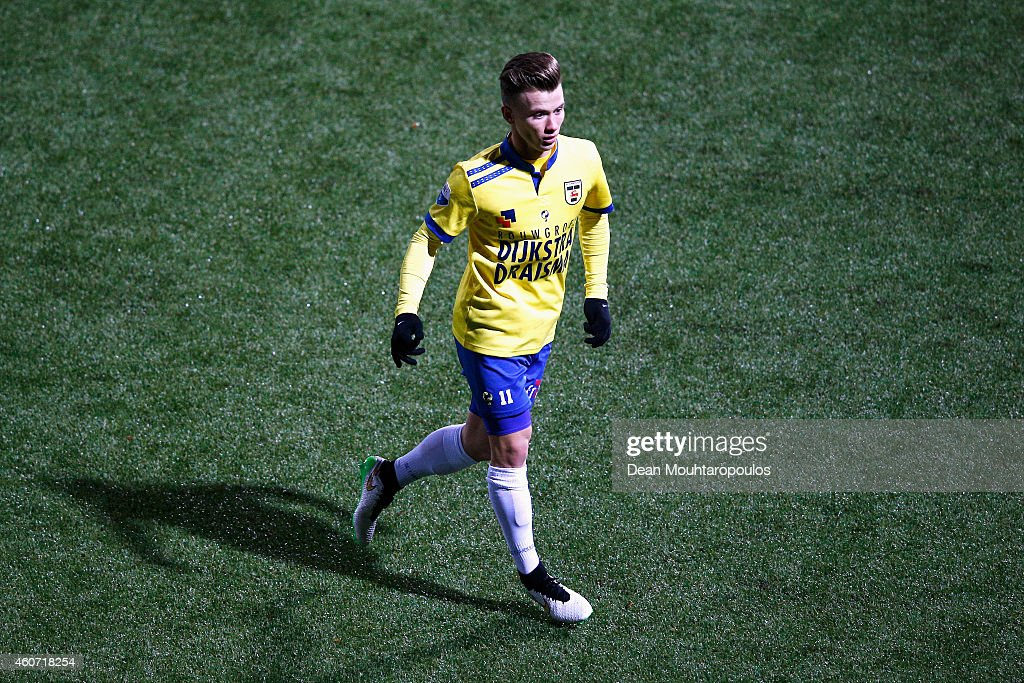 Albert Rusnak of Cambuur in action during the Dutch Eredivisie match between SC Cambuur and PEC Zwolle at Cambuur Stadion on December 20 2014 in...