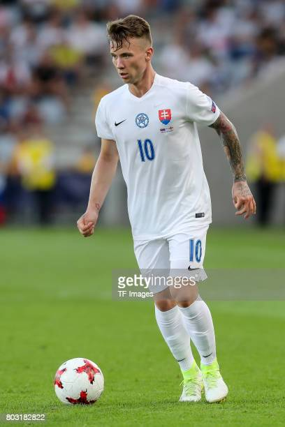Albert Rusnak of Slovakia in action during the 2017 UEFA European Under21 Championship match between Slovakia and England on June 19 2017 in Kielce...