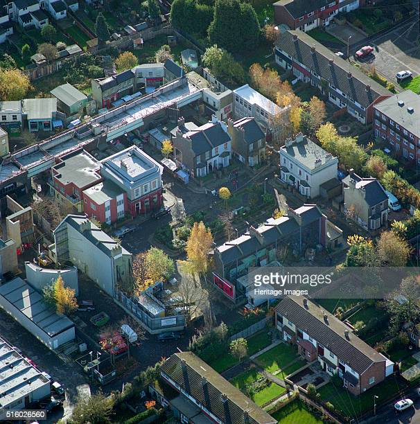 Albert Square Walford London January 2001 Aerial view of the film set for Albert Square in Walford the fictional setting of the popular BBC TV soap...