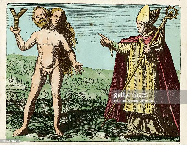 Albert the Great indicates a symbolic hermaphrodite who holds a letter Y Alberto Magno represents the supreme spiritual authority and temporal the Y...
