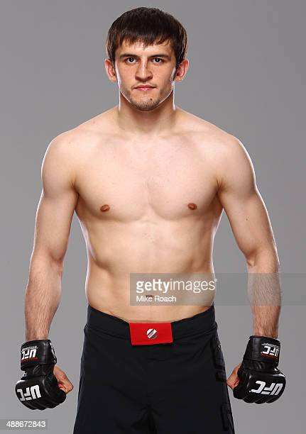 Albert Tumenov poses for a portrait during a UFC photo session at the Hilton Hotel on May 7 2014 in Cincinnati Ohio
