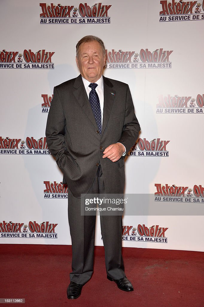 Albert Uderzo attends 'Asterix & Obelix: Au Service De Sa Majeste' at Le Grand Rex on September 30, 2012 in Paris, France.