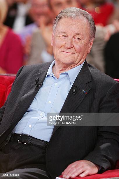 Albert Uderzo attends Vivement Dimanche Tv show on October 3 2012 in Paris France
