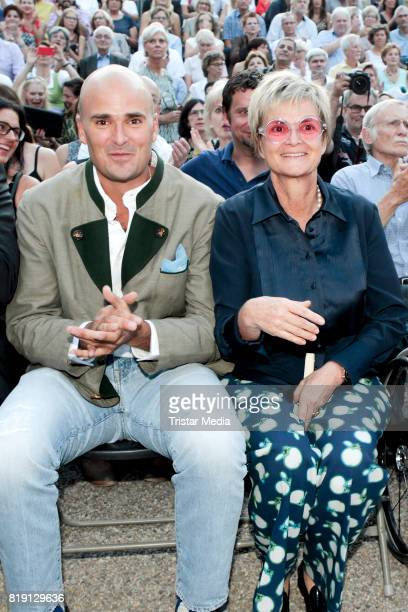 Albert von Thurn und Taxis and his mother Gloria von Thurn und Taxis during the Haindling concert at the Thurn Taxis Castle Festival 2017 on July 19...