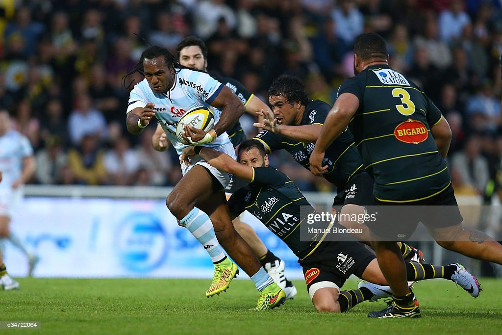Albert Vulivuli of Racing 92 during the french Top 14 match between Stade Rochelais and Racing 92 on May 27, 2016 in La Rochelle, France.