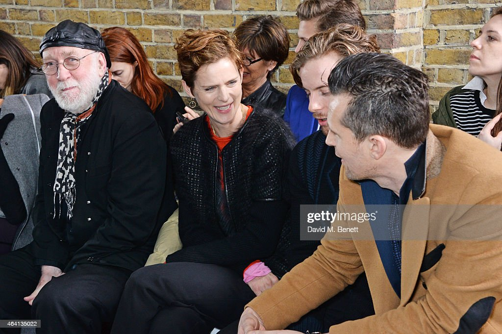 Albert Watson Stella Tennant Luke Treadaway and Robert Montgomery attend the Pringle of Scotland Fully Fashioned Exhibition and Autumn/Winter 2015...