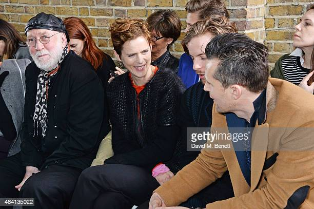 Albert Watson Stella Tennant Luke Treadaway and Robert Montgomery attend the Pringle of Scotland Fully Fashioned Exhibition and Autumn/Winter 2015...