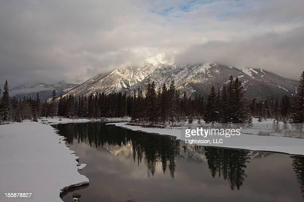Alberta Banff National Park Mountain Reflection