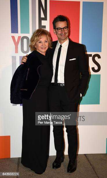 Alberta Ferretti and Federico Marchetti attend Next Talents Vogue during Milan Fashion Week FW17 on February 22 2017 in Milan Italy