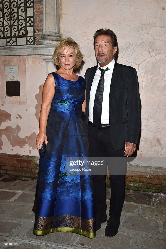 Alberta Ferretti and Massimo Gatti attend 'The Humbling' premiere after party during the 71st Annual Venice Film Festival on August 30, 2014 in Venice, Italy.