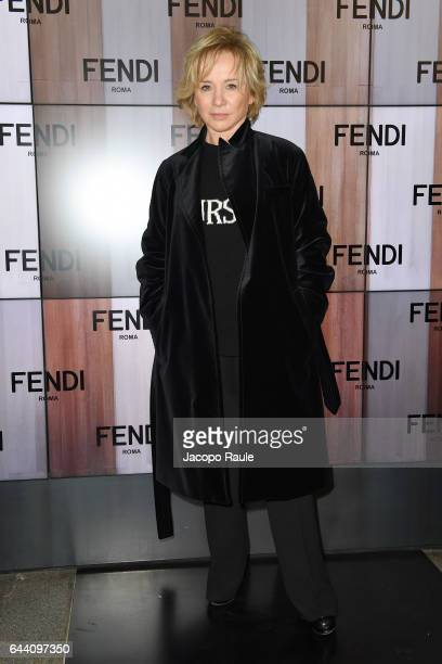 Alberta Ferretti attends the Fendi show during Milan Fashion Week Fall/Winter 2017/18 on February 23 2017 in Milan Italy