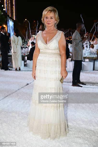 Alberta Ferretti attends the Gala event during the Vogue Fashion Dubai Experience 2015 at Armani Hotel Dubai on October 30 2015 in Dubai United Arab...