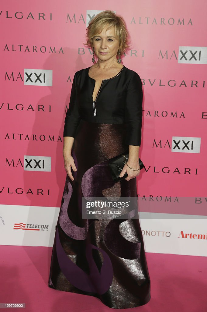 Alberta Ferretti attends the MAXXI Gala Dinner photocall at Maxxi Museum on November 29 2014 in Rome Italy