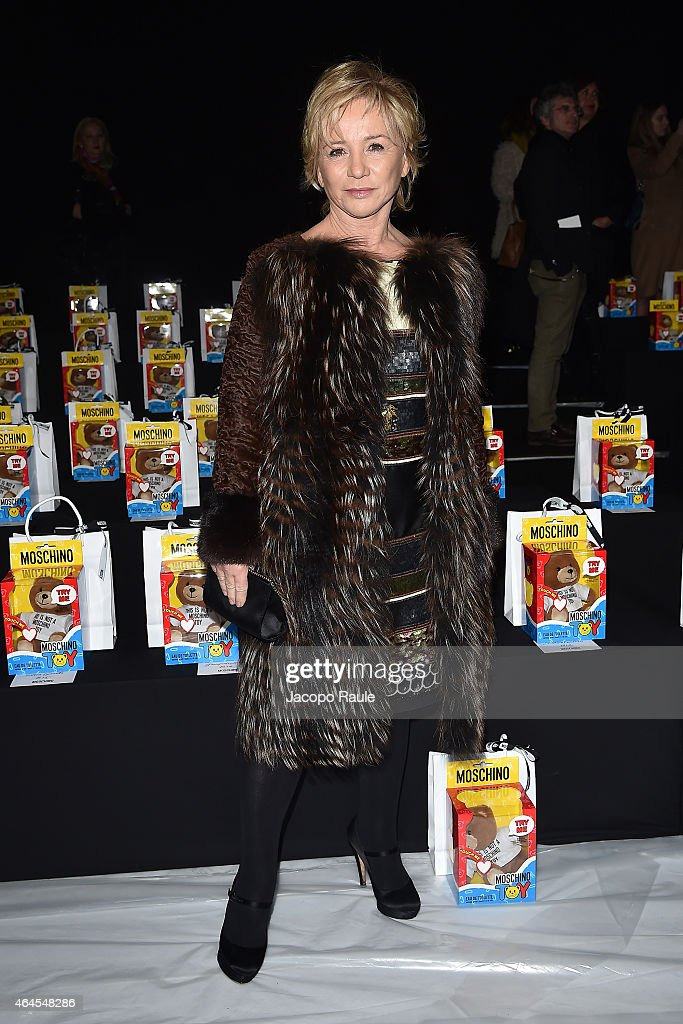 Alberta Ferretti attends the Moschino show during the Milan Fashion Week Autumn/Winter 2015 on February 26 2015 in Milan Italy