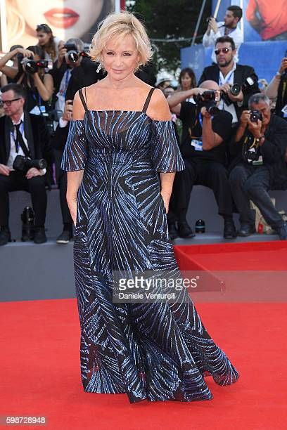 Alberta Ferretti attends the premiere of 'Nocturnal Animals' during the 73rd Venice Film Festival at Sala Grande on September 2 2016 in Venice Italy