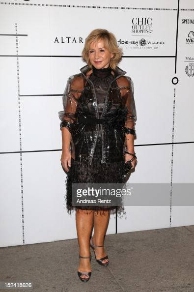 Alberta Ferretti attends 'Who Is On Next' And 'Vogue Talents' event as part of Milan Womenswear Fashion Week on September 20 2012 in Milan Italy