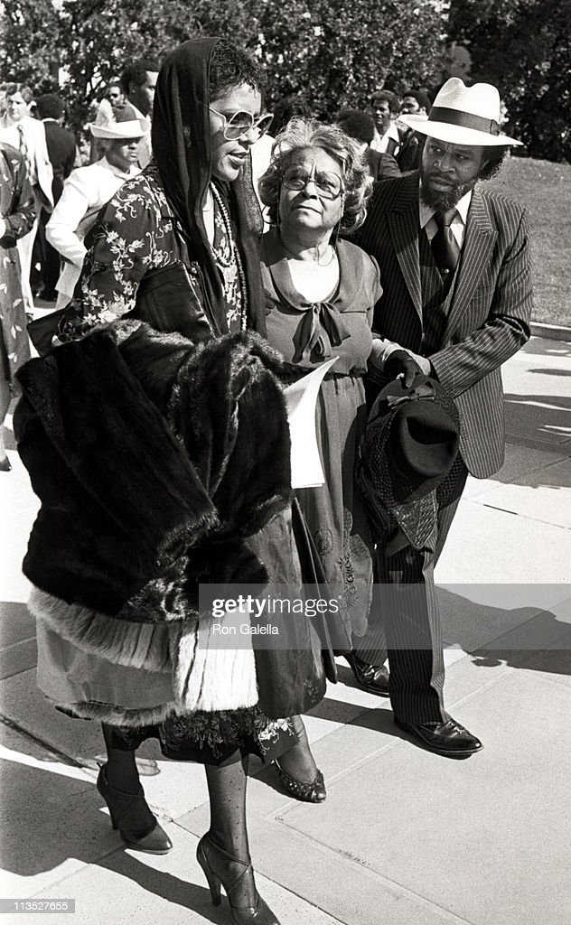 Alberta Gaye and Family Members during Funeral Service for Marvin Gaye at Forest Lawn Mortuary in Hollywood, California, United States.