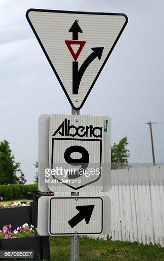 Alberta highway sign