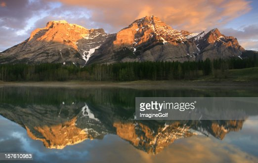 Alberta Rockies Mountain Reflection