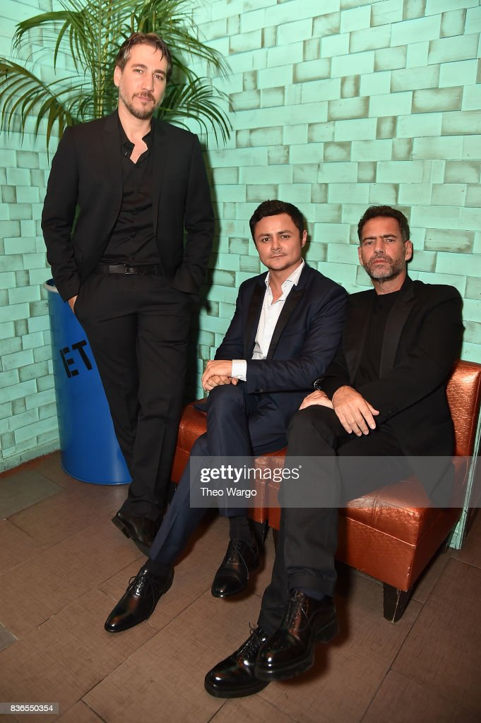 Alberto Ammann, Arturo Castro and Francisco Denis attend the 'Narcos' Season 3 New York Screening at AMC Loews Lincoln Square 13 theater on August 21, 2017 in New York City.