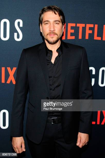 Alberto Ammann attends 'Narcos' Season 3 New York Screening Arrivals at AMC Lincoln Square 13 Theater on August 21 2017 in New York City